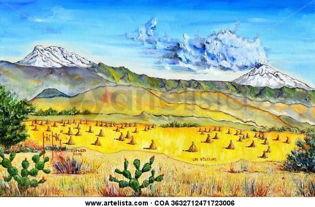 Los Volcanes Lienzo Óleo Paisaje