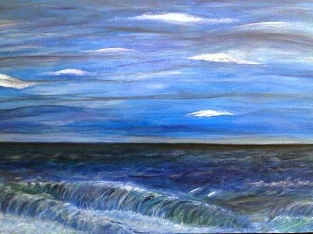 el mar  Lienzo Paisaje Acrílico