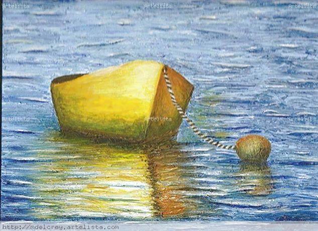 Bote en el agua Acrílico Tabla Marina
