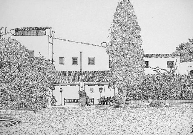 Masía de Sant Pere de Ribes Tinta Papel Floral