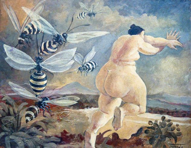 Las avispas  Óleo Desnudos Otros