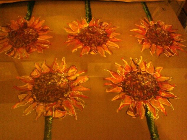 Girasoles Pastel Tabla Floral