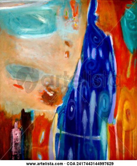 Acequia grande   1.20 x 1.00 cm.  óleo/tela Lienzo Óleo Paisaje