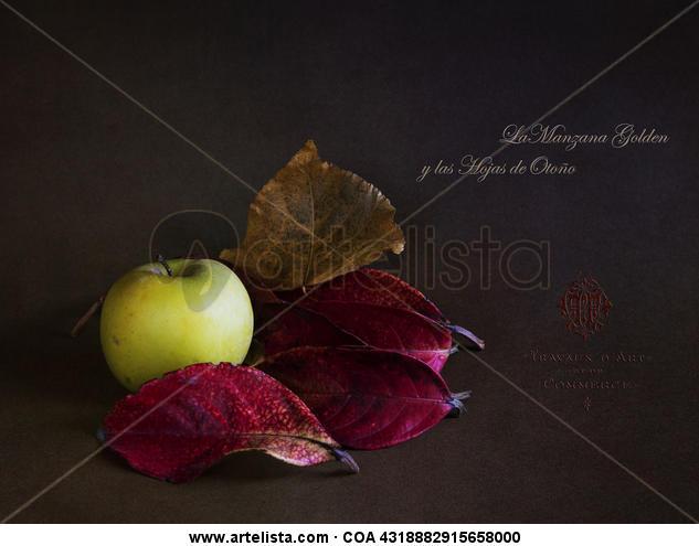 la manzana y las hojas