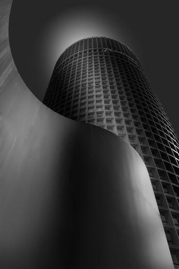 Torre Part-Dieu Blanco y Negro (Digital) Arquitectura e interiorismo
