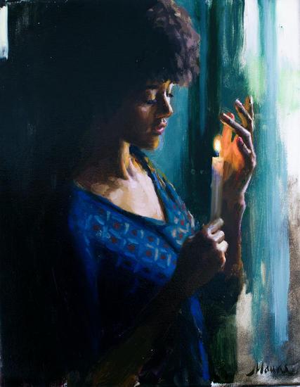 Memoria ancestral Portrait Oil Canvas