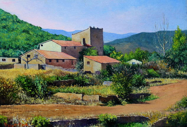 Masía Torre Guillermo Landscaping Oil Canvas