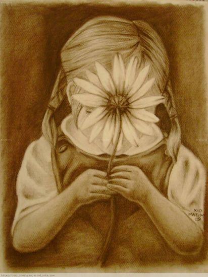 Niña de La Flor Carboncillo