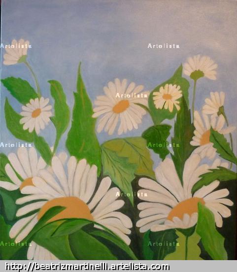 UN DIA DE PRIMAVERA II Acrílico Lienzo Floral