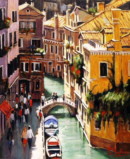 venecia - canal, desde arriba