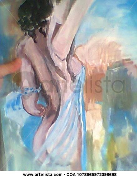 Desnudo  Paper Acrylic Nude Paintings