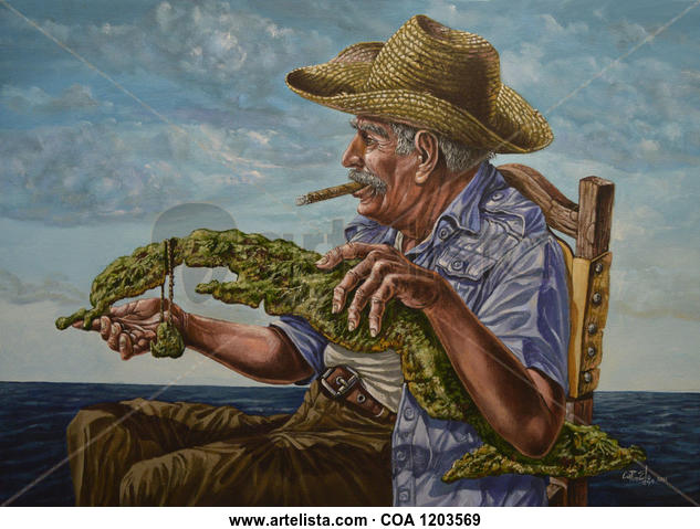 Esta isla nuestra. Figure Painting Acrylic Canvas