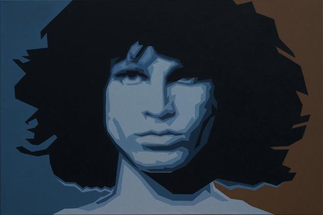 Jim Morrison Acrylic Painting Retrato Acrílico Lienzo
