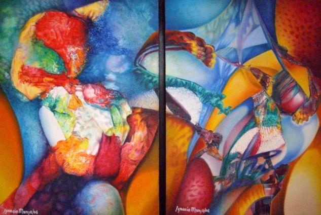 De la serie abstractos 6 ignacio monje pintor colombiano - Pinturas acrilicas modernas ...