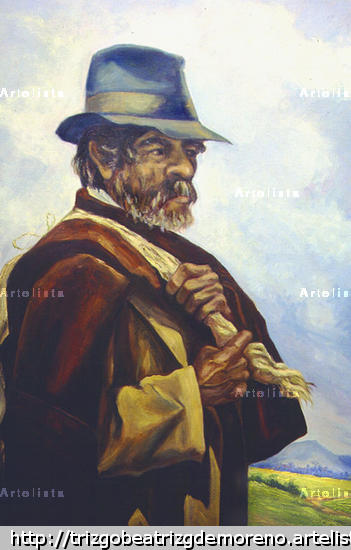 0206_04_007_El_viejo_campesino Óleo Lienzo Retrato