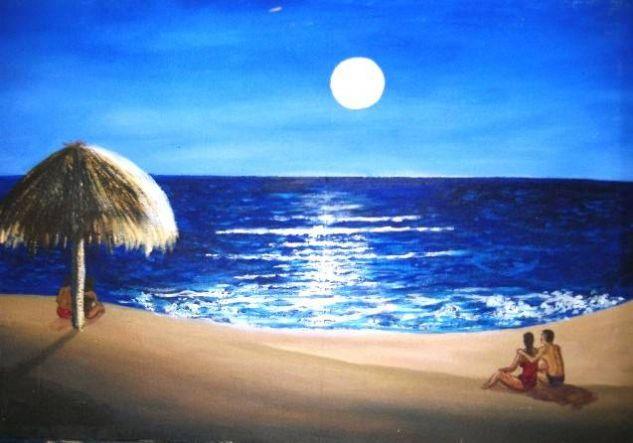 Mar y amor Óleo Lienzo Marina