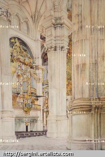 interior de la catedral de granada Rotulador