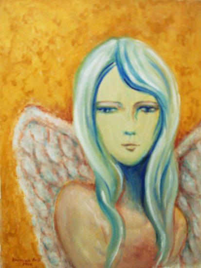 Angel Retrato Acrílico Lienzo