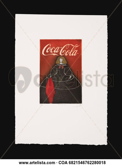 Menina Coca Cola. Papel Otros Figura