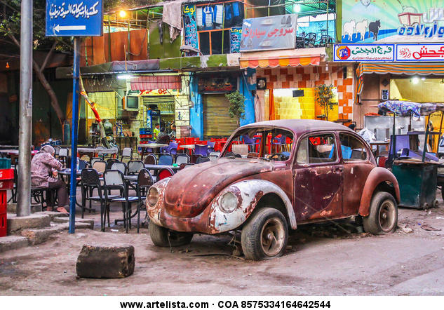 Escarabajo en El Cairo Color (Digital) Otras temáticas
