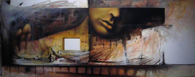 De la serie: Un mundo habitable, tantos sueños Figura Acrílico Lienzo