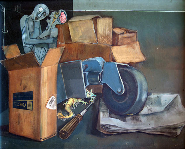 En la trastienda Canvas Oil Portrait