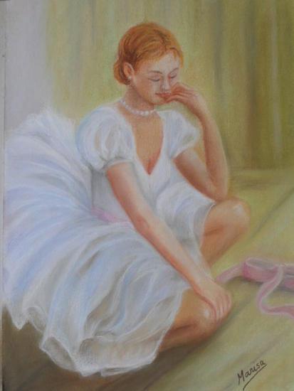 BAILARINA Cartulina Pastel Figura