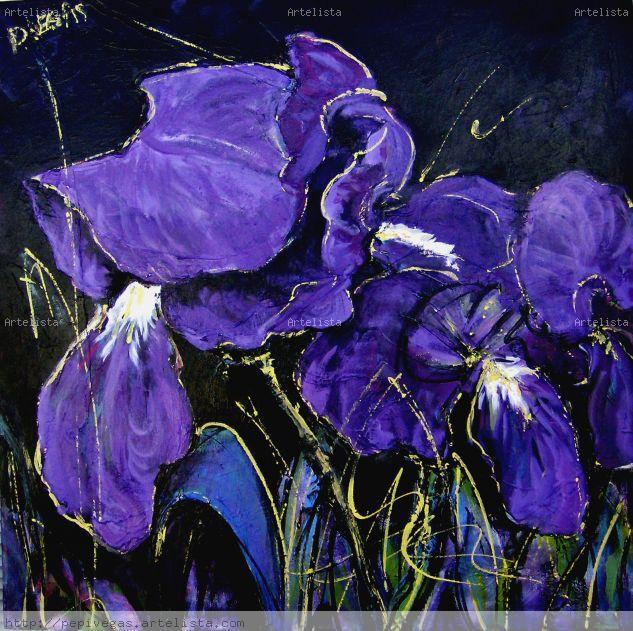 D-lirios Floral Painting Canvas Acrylic