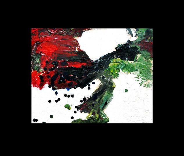 Abstracción, acrílico sobre madera