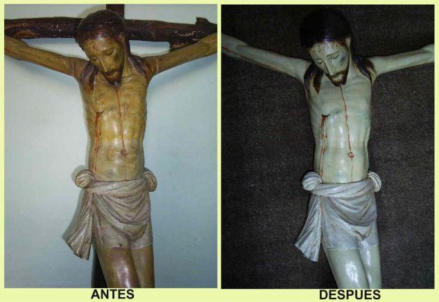 crucificado- restauracion (detalle)