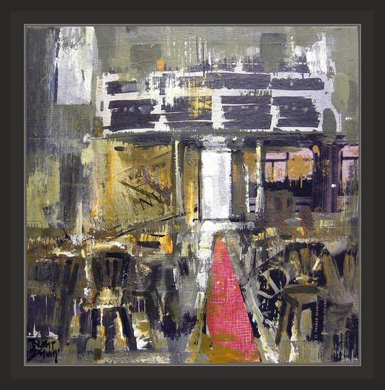 CINE-INTERIORES-PINTURA-CUADROS-PINTOR-ERNEST DESCALS Canvas Oil Still Life Paintings