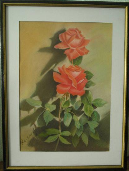 Las rosas son bellas Pastel Cartulina Floral