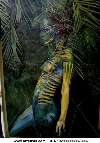 amazonios Lienzo Óleo Figura