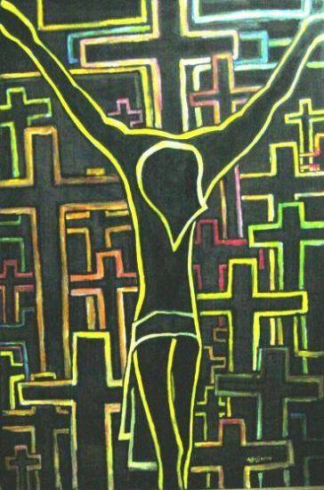 El Cristo de Guadix III Acrílico Tabla Figura