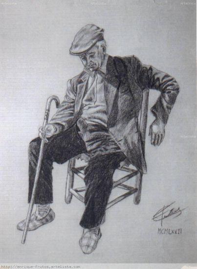 Figura sentada Carboncillo