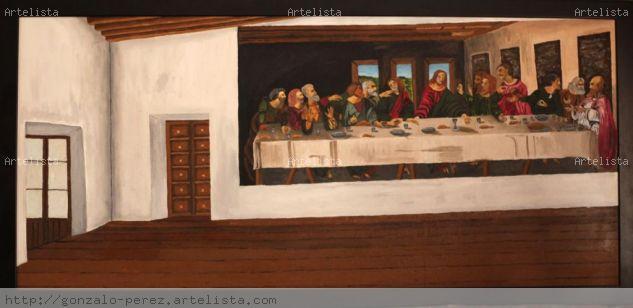 La cena en casa de Levi Canvas Oil Figure Painting