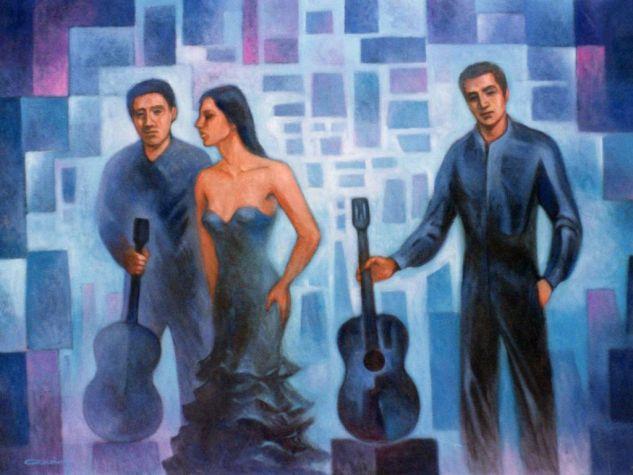 Los artistas Lienzo Óleo Otros