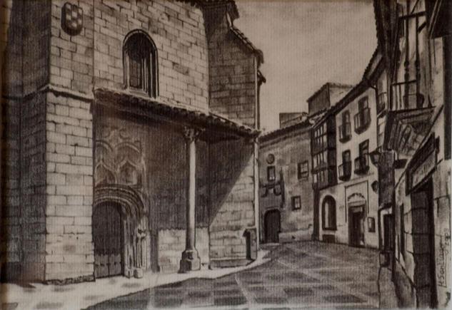 Iglesia de San Benito. Salamanca Papel Lápiz (Negro) Paisaje