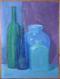 Bodegón azul Panel Oil Still Life Paintings