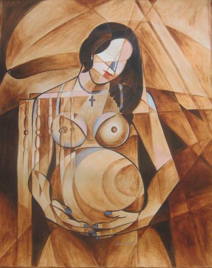 PARTE DE MI Portrait Oil Textile