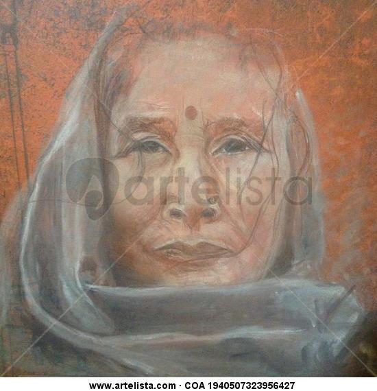 Wisdom. Paper Pastel Portrait