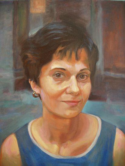 Milagros Oil Canvas Portrait