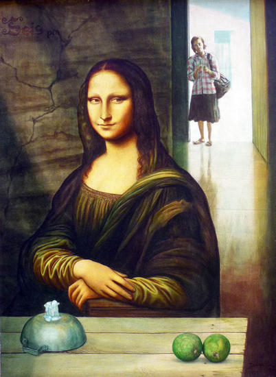 Mola Lisa (Gioconda) Canvas Oil Portrait