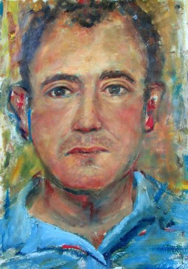 Autoretrato Papel Óleo Retrato