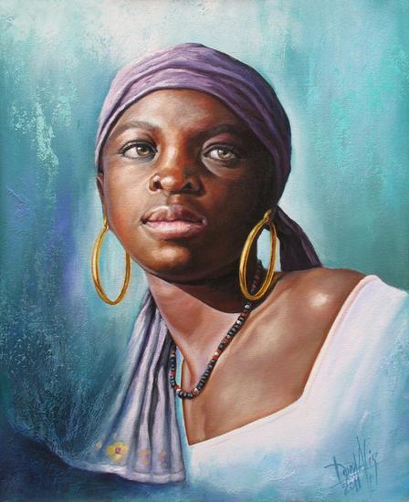 Niño de raza negra 52 Retrato Óleo Lienzo