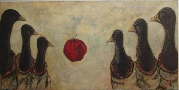 la adoracion de los patos Óleo Tabla Otros