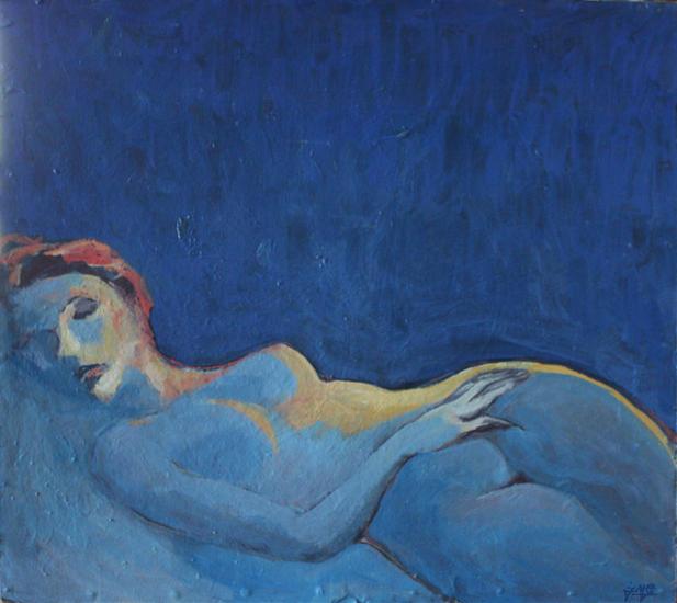 Night. Desnudos Cartulina Óleo
