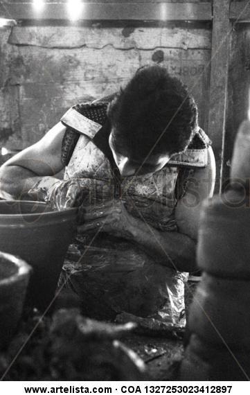 Alfarero Blanco y Negro (Química) Retrato