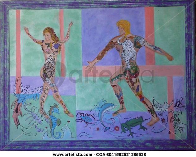 Danza Figura Óleo Otros