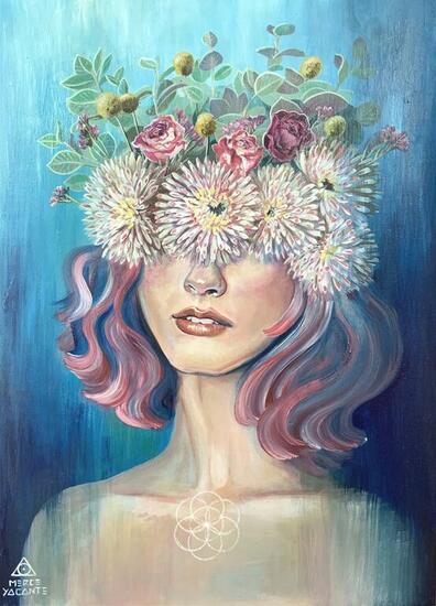 Flower of life Portrait Acrylic Panel